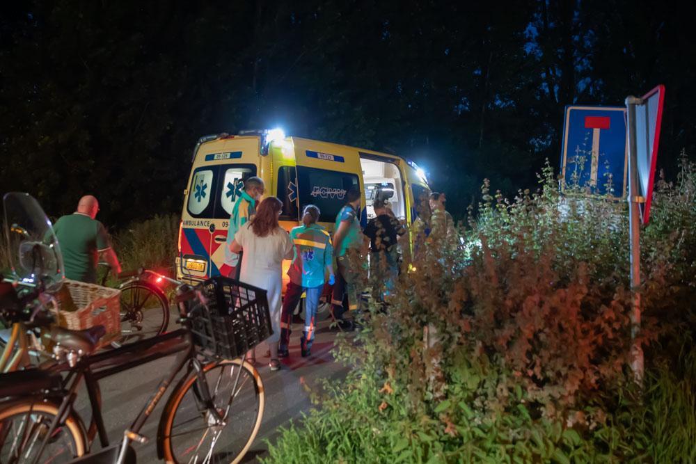 Scooterrijder en fietser botsten frontaal op elkaar in Bunschoten Spakenburg