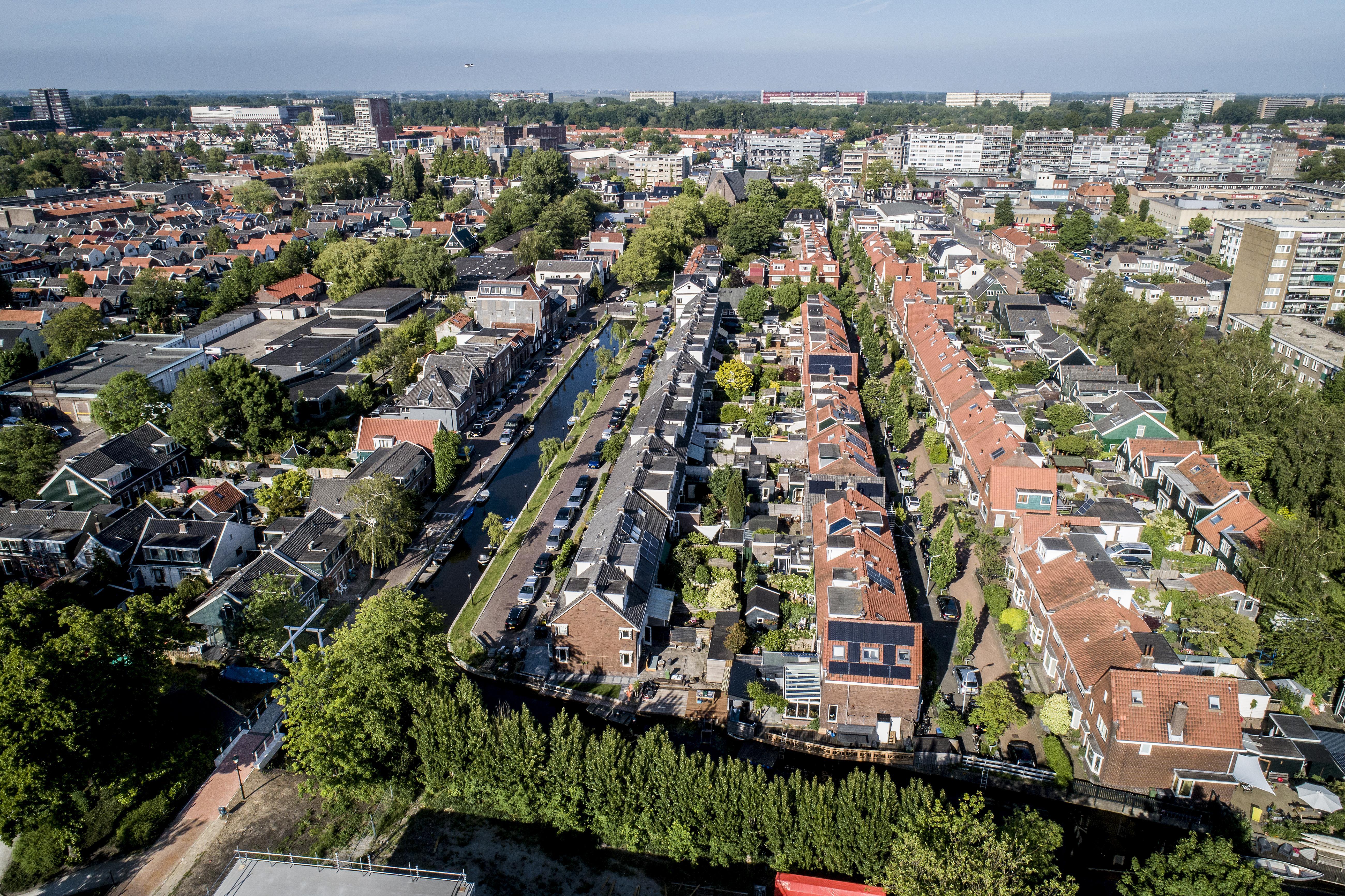 Paden en sloten van Zaandam Oudwest