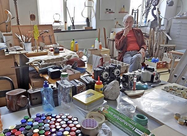 Kunstenaarbroeders Drukker in de Hoornse Boterhal. 'Ons werk past hier perfect'
