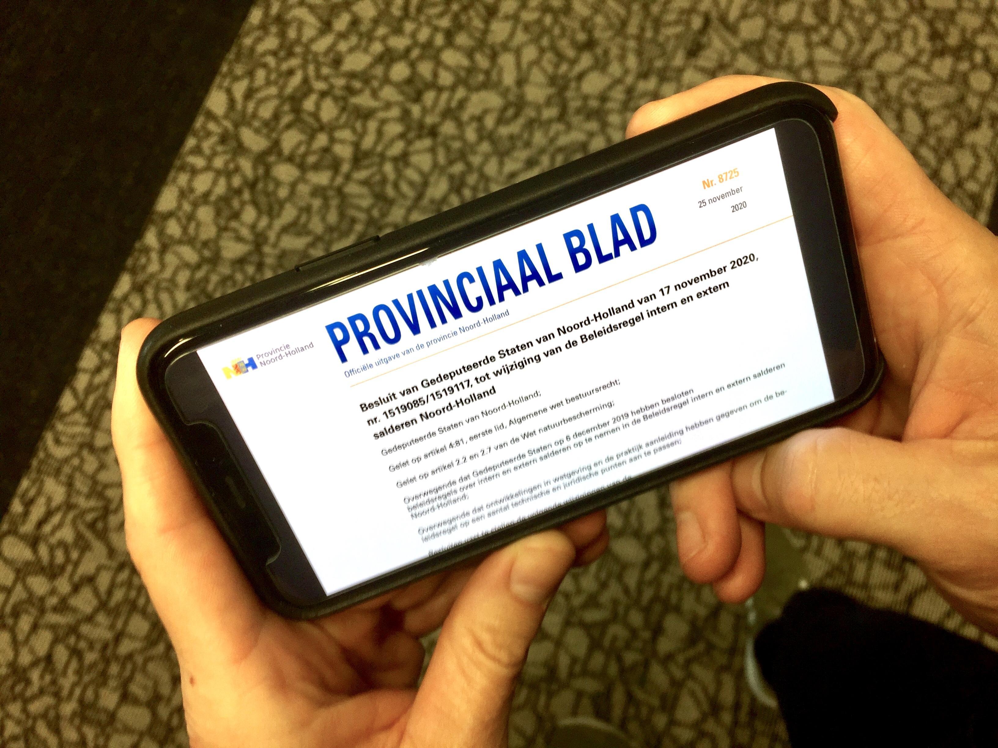 Noord-Holland stopt met adverteren; kennisgevingen komen alleen nog op internet