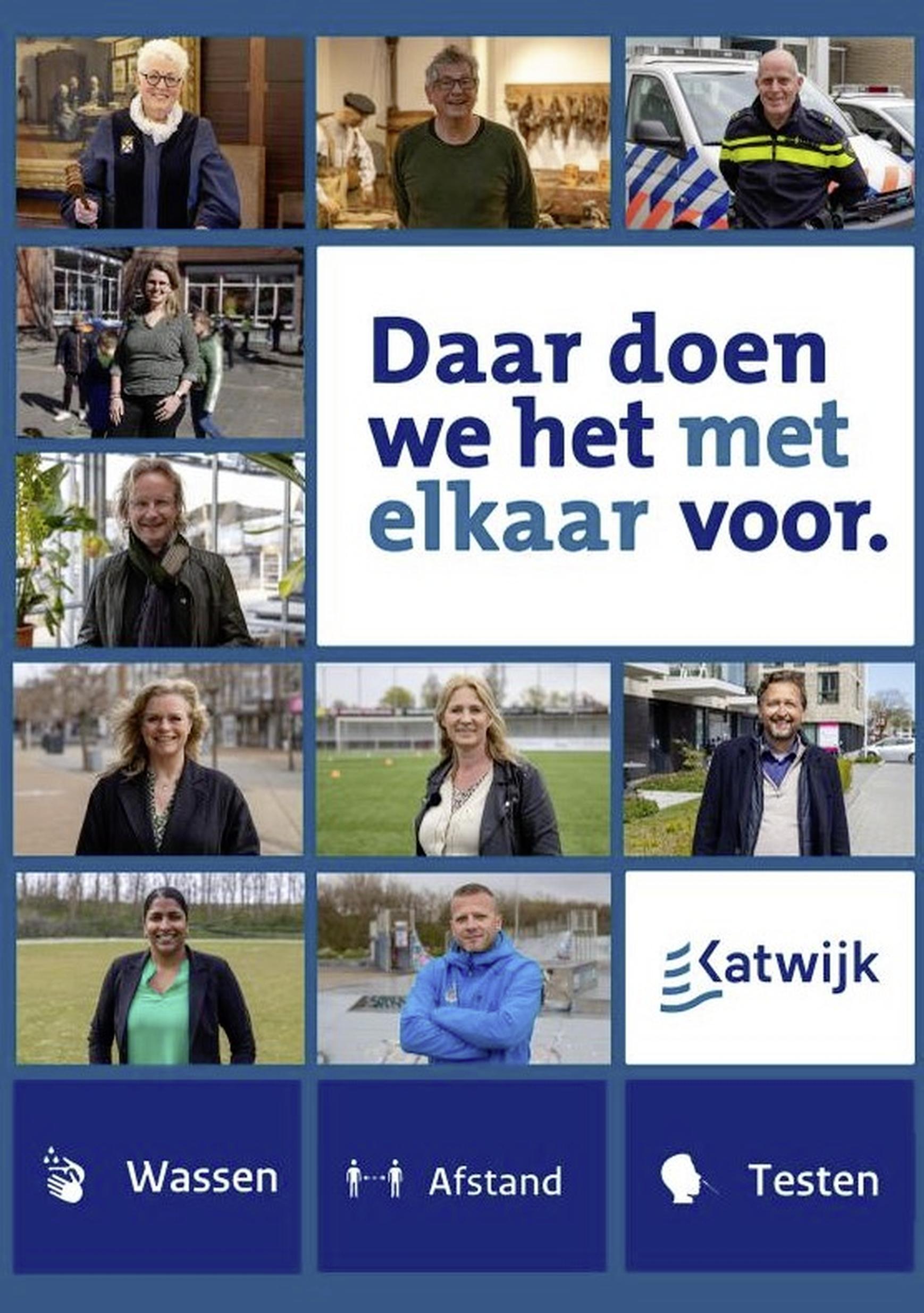 Katwijk doet het 'met elkaar' samen: nieuwe coronacampagne