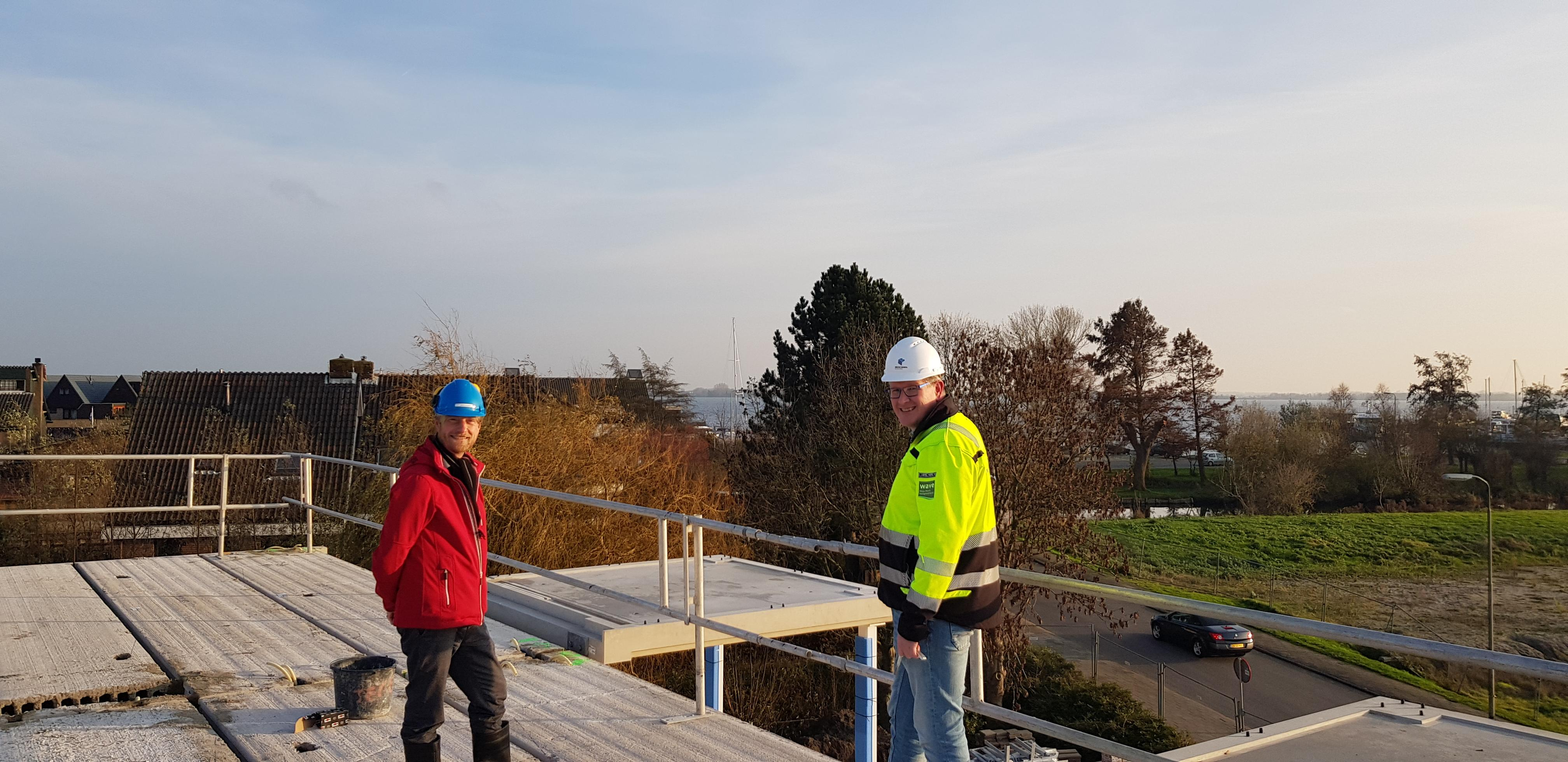 Hoogste punt nieuwbouw aan Gerarduspad in Oude Wetering is bereikt