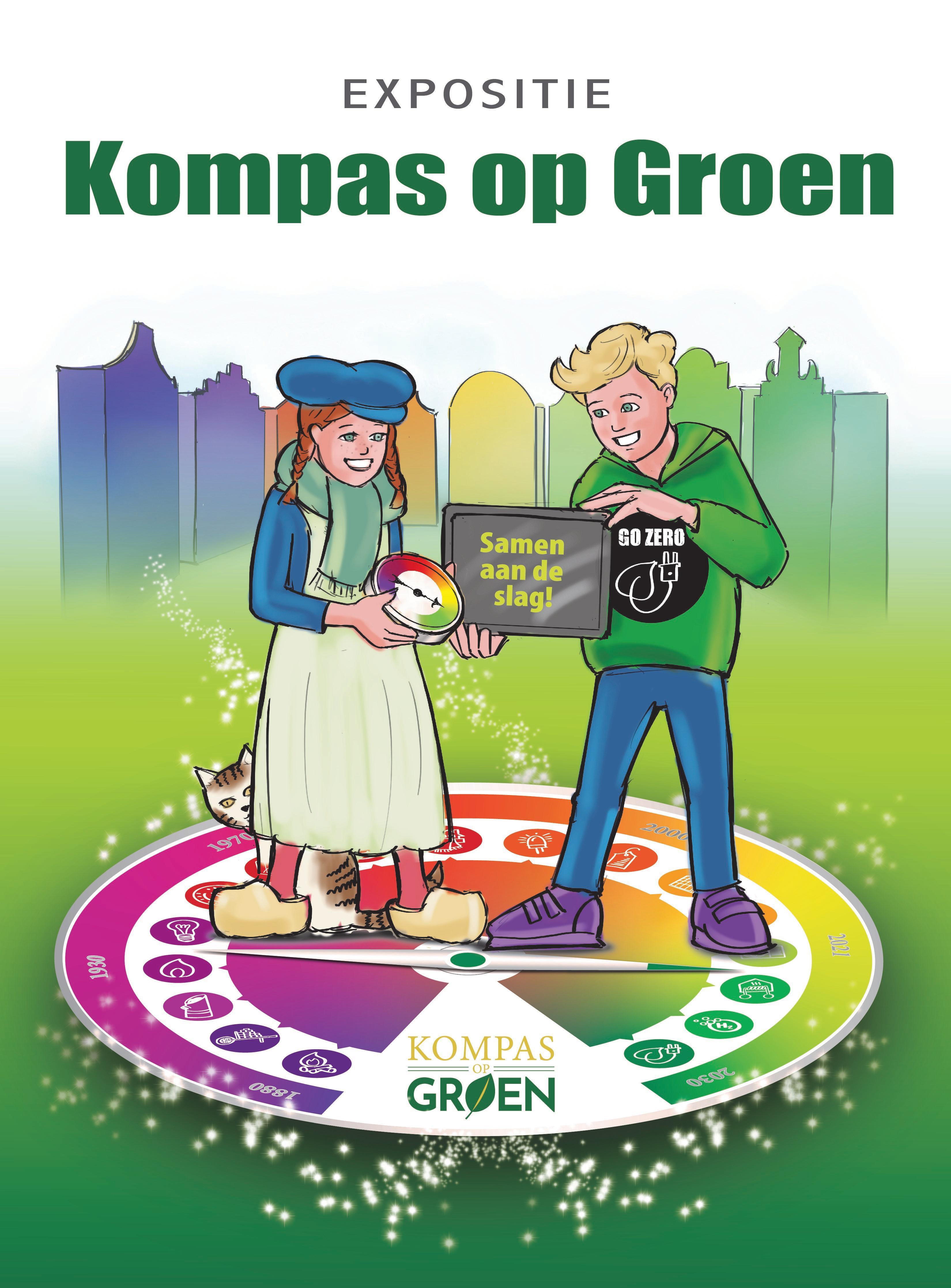 Kompas op Groen geeft inzicht in hoe we van het aardgas af kunnen; De expositie in stadhuis Naarden ook basis voor lesprogramma's scholieren