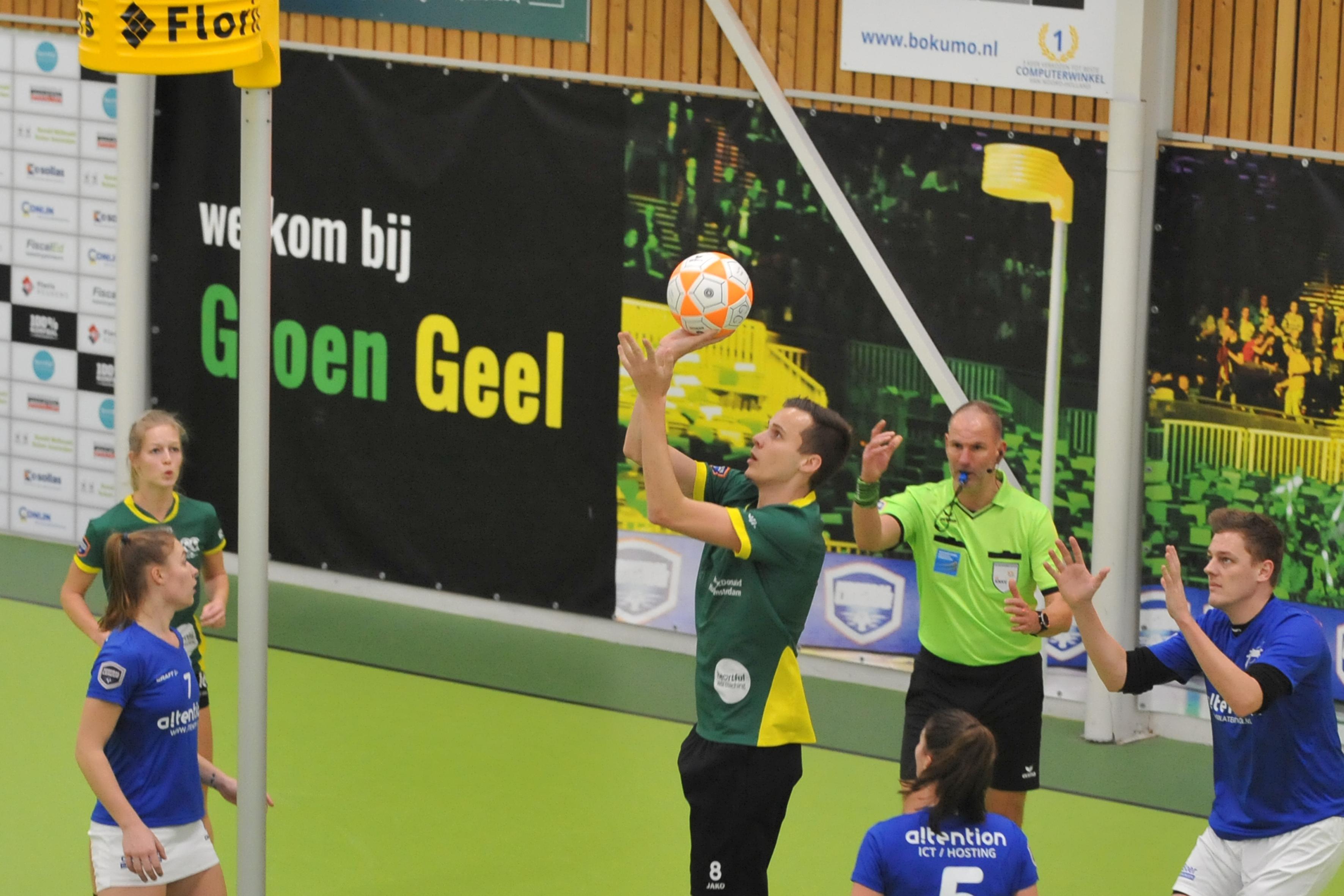 'Niet mooi, wel functioneel': korfballers Groen Geel doen thuis wat ze moeten doen tegen zwakste tegenstander in de poule Oost Arnhem