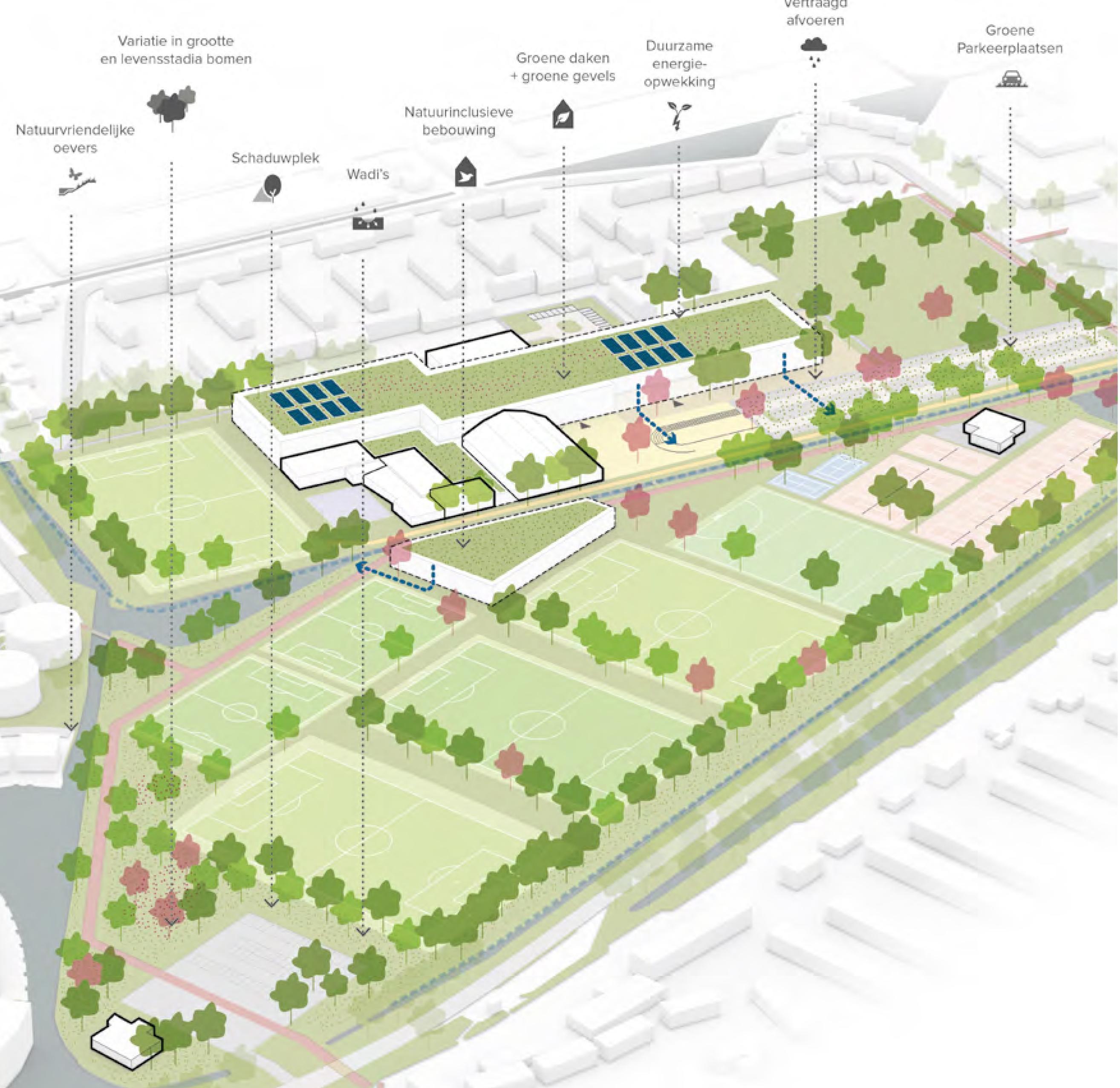 Plek gevonden voor nieuwe Tweesprong en een Integraal Kindcentrum langs Sportpad Roelofarendsveen