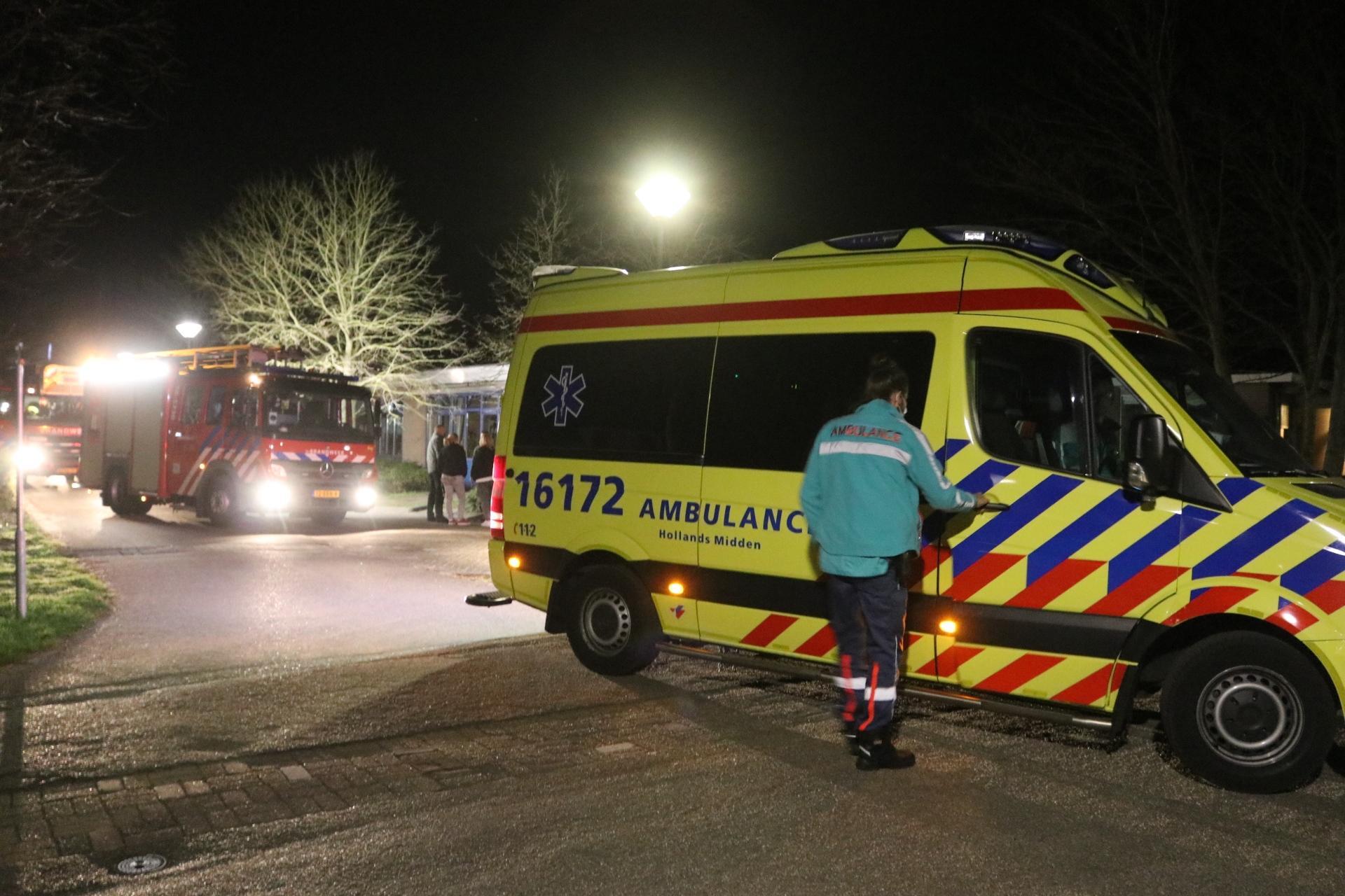 Zorginstelling in Noordwijk ontruimd door brand, geen gewonden
