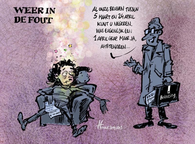 Belastingdienst weer in de fout | cartoon