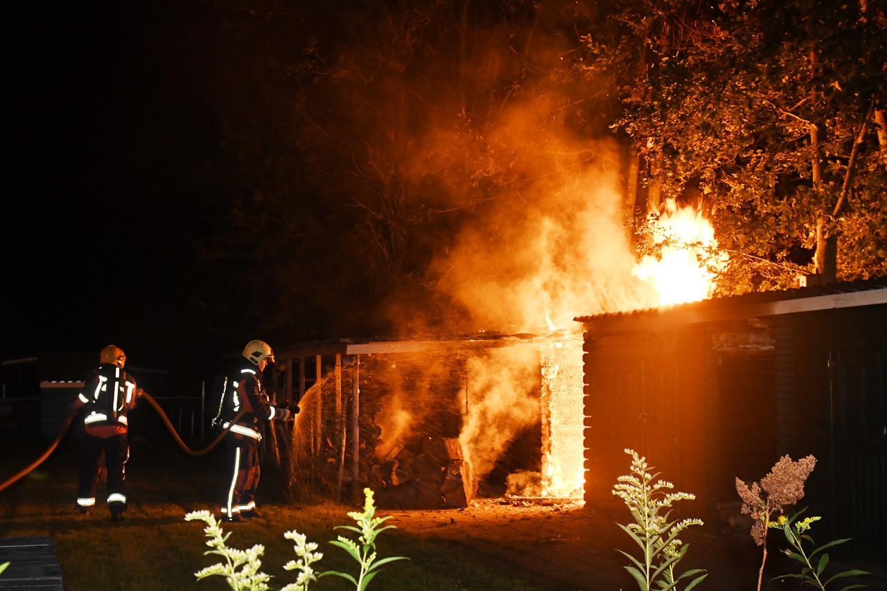 Brand op GGZ-terrein in Oegstgeest