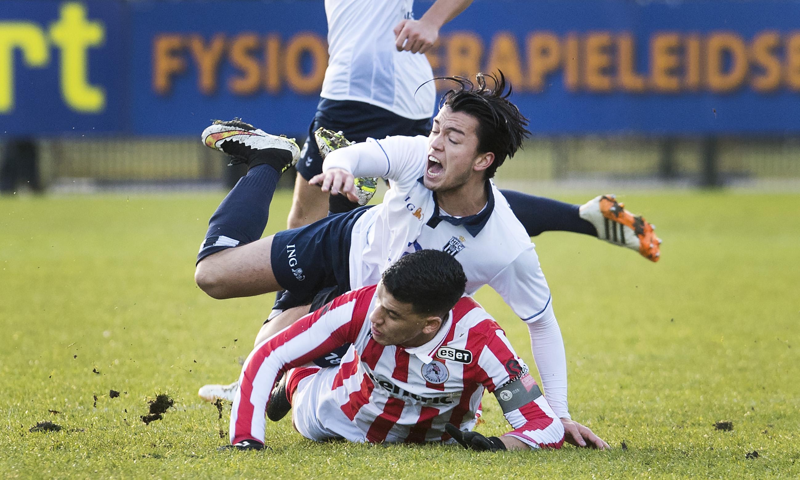 HFC na winst op Jong Sparta even met de benen omhoog