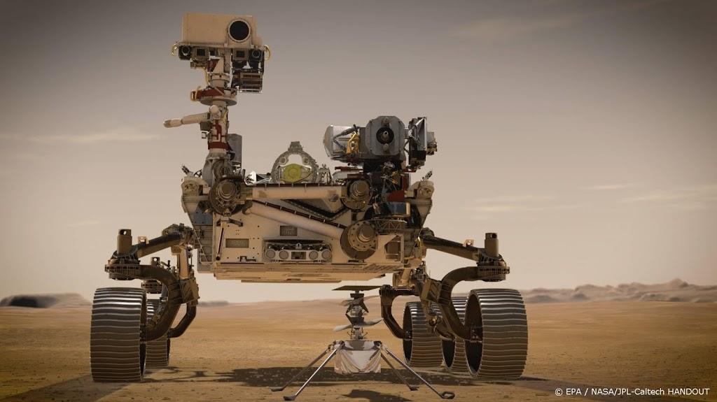 Perseverance maakt eerste hele korte ritje op Mars